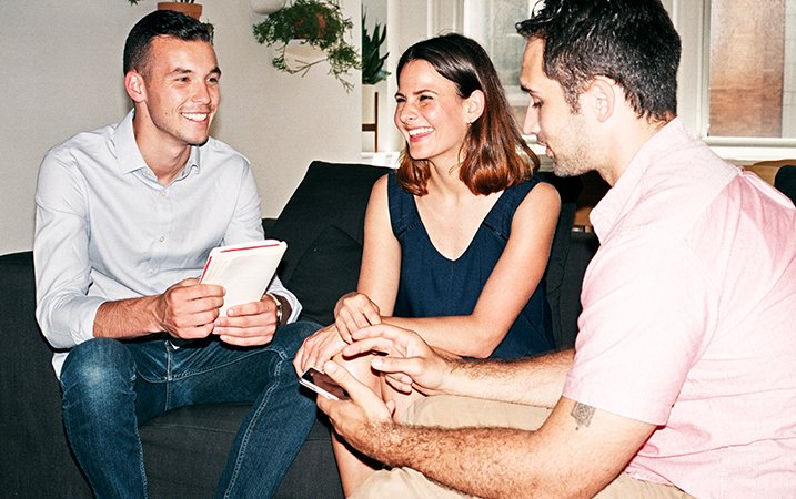 People group laughing