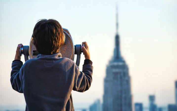 Boy With Binoculars at Empire State
