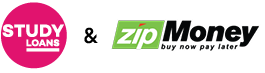Study Loans + Zip Money Logos