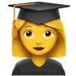 Graduate Woman Cap and Gown Emoji